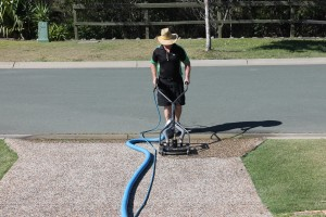 Cleaning of driveway